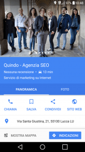 google my business quindo