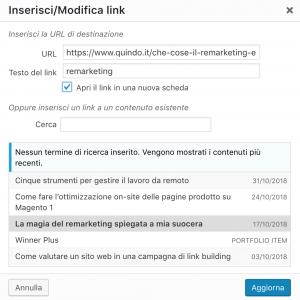 esempio tag blank su wordpress