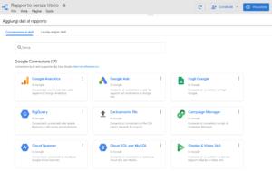 connettori google data studio