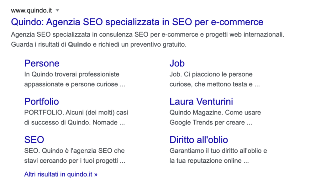 featured SERP quindo