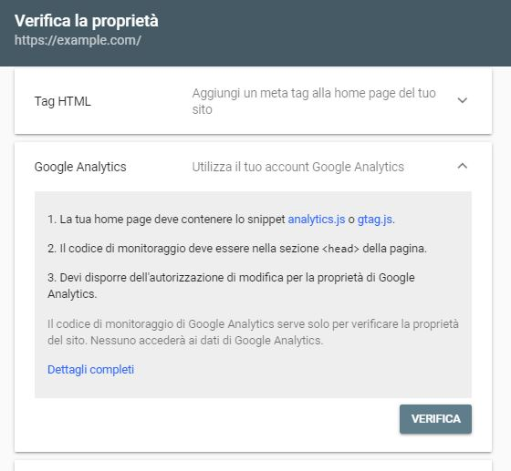 Google Analytics e Google Search Console