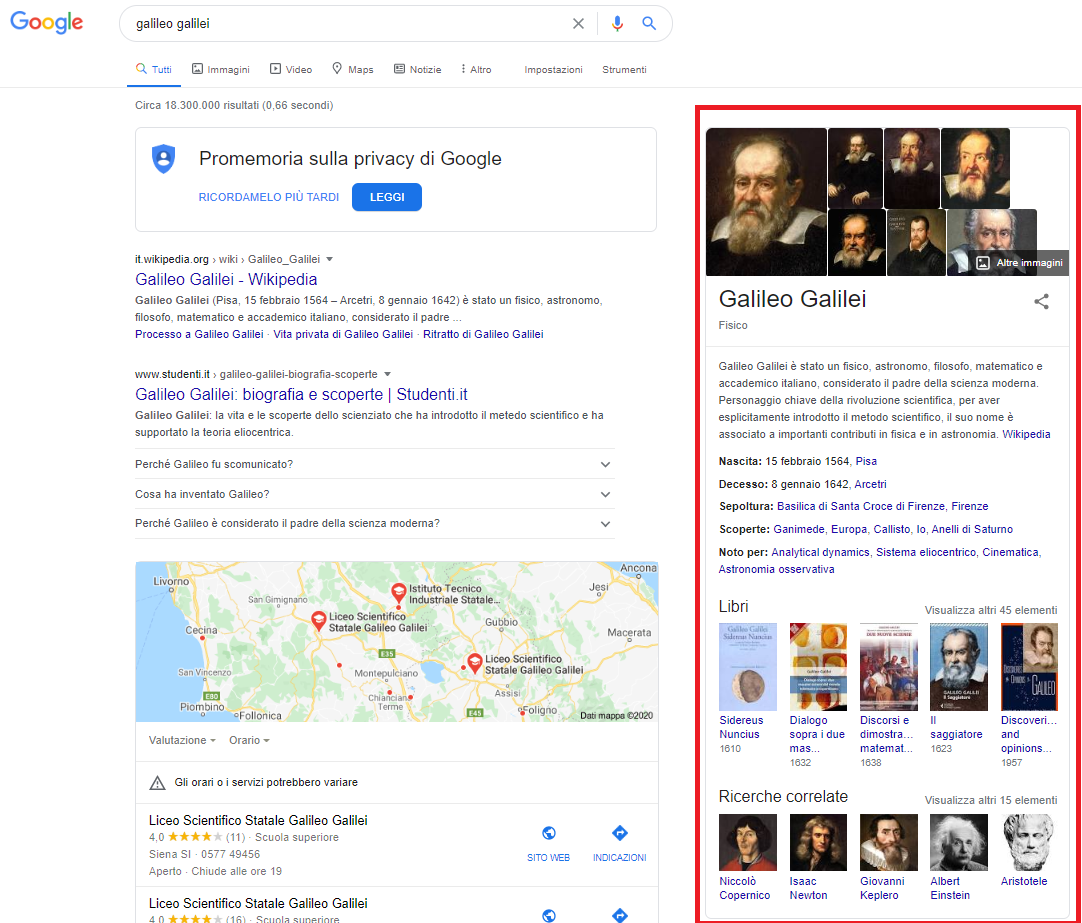 knowledge graph in serp