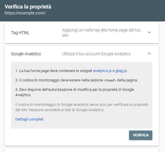 Google Analytics e Google Search Console