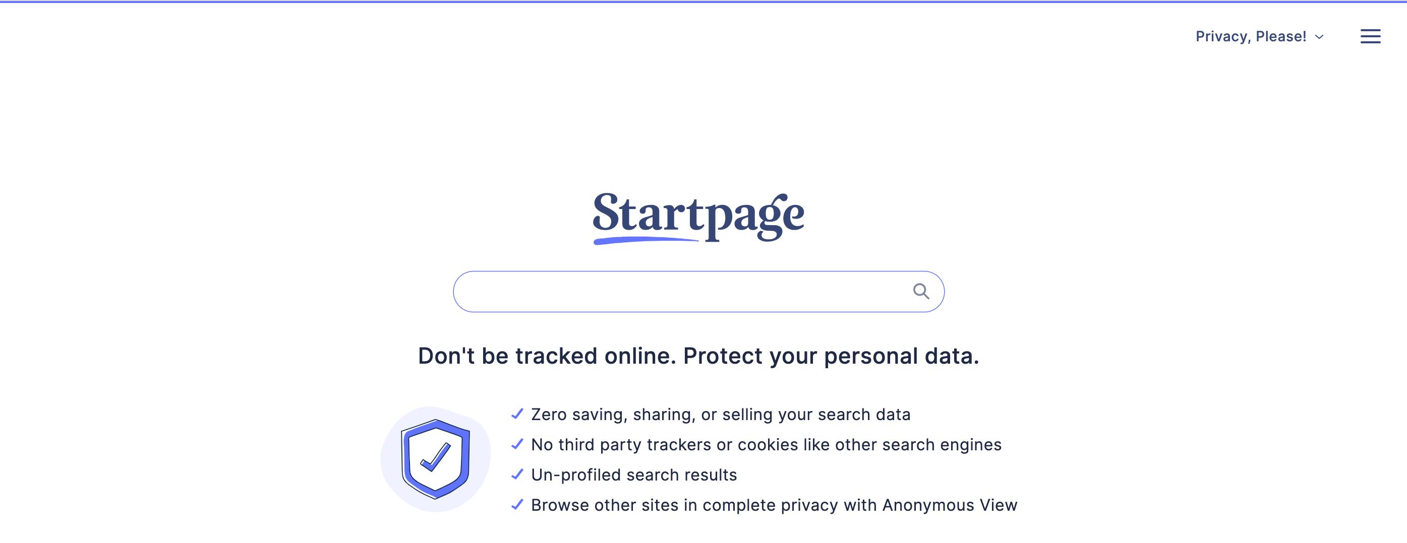 motore di ricerca startpage