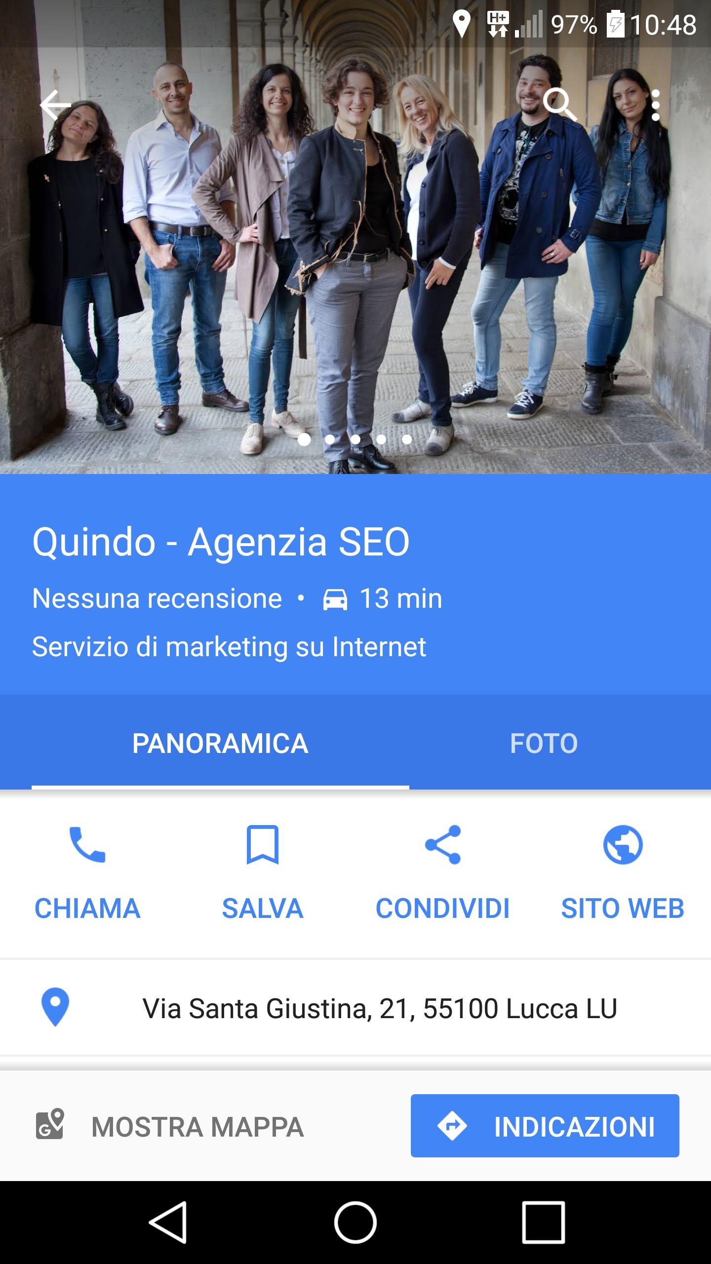 google my business quindo