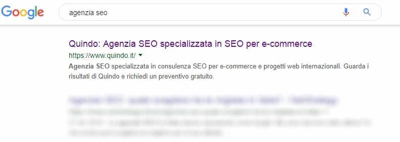 risultati di ricerca su Google