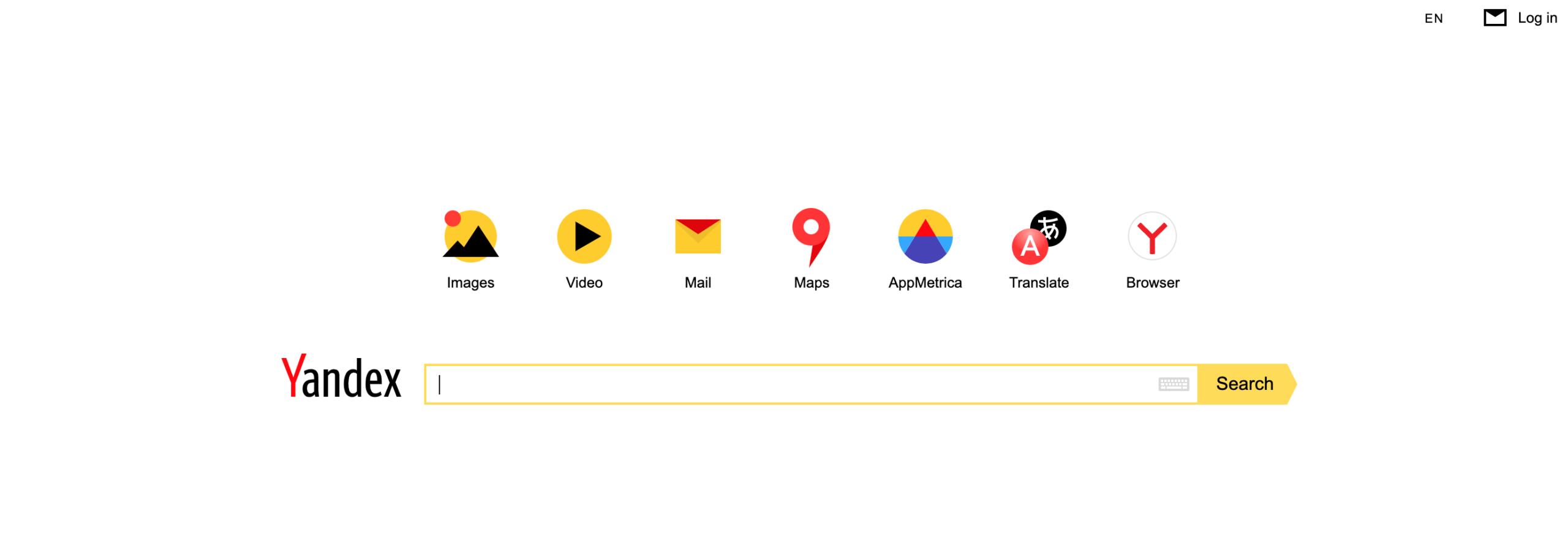 yandex motore di ricerca russo