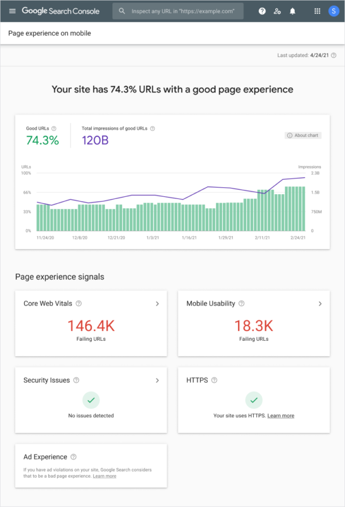 page-experience-report-google