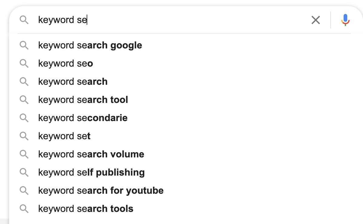 autocompilazione google